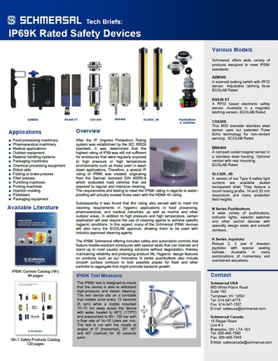 IP69K Rated Products Flyer