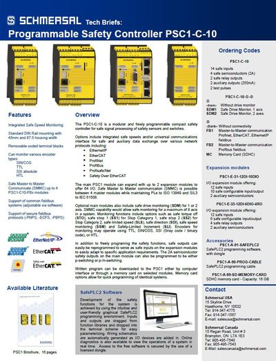 PSC1 Safety Controller Tech Brief